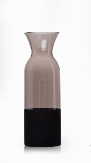 Vaza Faila Grey, Sticla, Ø11xH32 cm