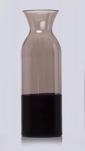 Vaza Faila Grey, Sticla, Ø13xH38 cm