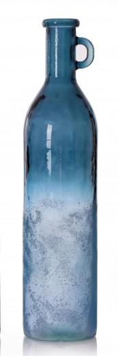 Vaza Rustic Blue Bottleshape, Sticla, Ø19xH78 cm