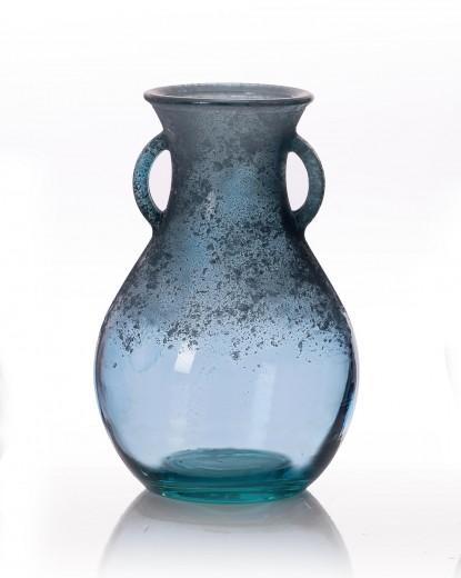Vaza Rustic Blue, Sticla, Ø15xH24 cm