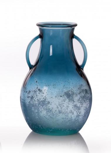 Vaza Rustic Blue, Sticla, Ø22xH33 cm