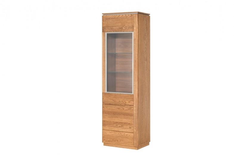 Vitrina din lemn si furnir, cu 1 usa Montenegro 10 Oak, l58xA42xH198 cm
