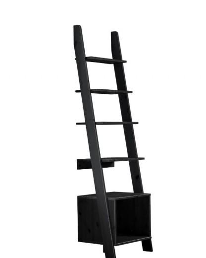 Etajera din lemn de pin Vocal Black, l45xA35xh162 cm