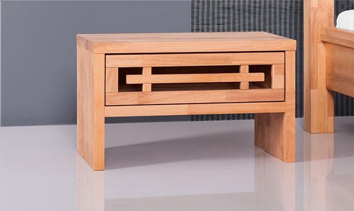 Noptiera din lemn masiv de fag Tokio natural, l50xA30xH30 cm