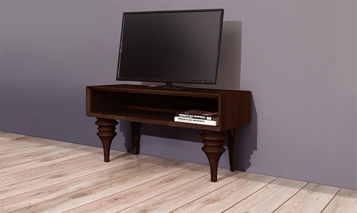 Comoda TV din lemn masiv de fag Parys RTV wenge, l106xA45xH61 cm