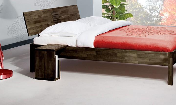 Noptiera Vento S wenge din lemn masiv de fag, l35xA30xH40 cm