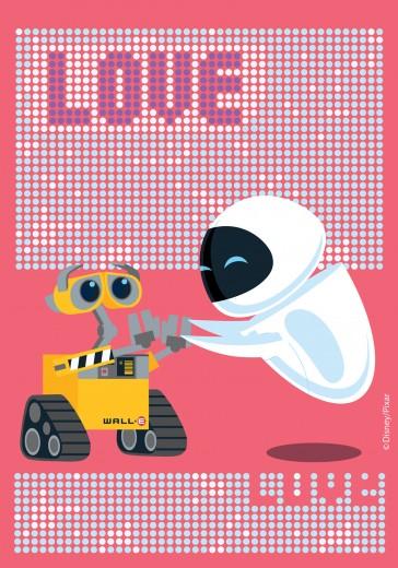 Covor Disney Kids Wall-E Love 502, Imprimat Digital