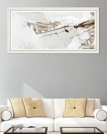 Tablou Framed Art Yachting Sepia