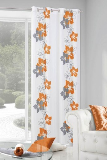 Perdea Glory 140X250 Alb/Orange 1 buc