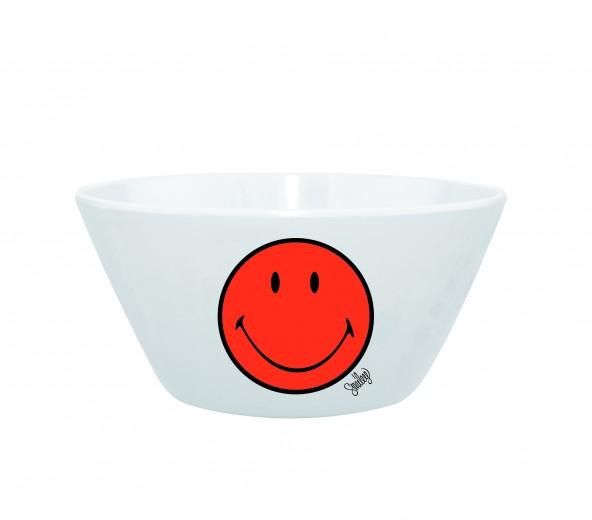 Mini Bol pentru cereale Smiley Portocaliu/Alb, Ø15 cm