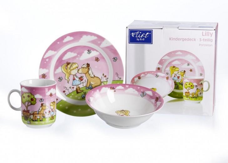 Set vesela pentru copii Lilly, Flirt, 3 piese