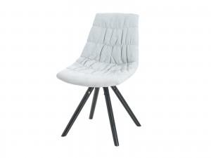 """Scaun tapitat cu stofa, cu picioare de lemn """"Klass"""" White, l47xA54xH80 cm"""