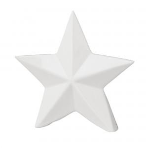 Decoratiune Alistar Alba, Portelan, l14,7xA3,5xH14 cm