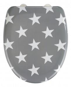 Capac toaleta din duroplast, Stella Gri, l38xA45 cm