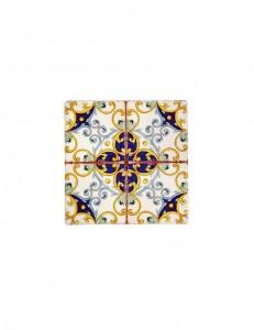 Coaster din ceramica Medicea Multicolor, Modele Asortate, L16xl16 cm