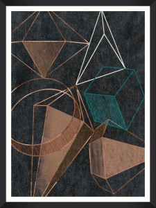 Tablou Framed Art Copper Geometry I