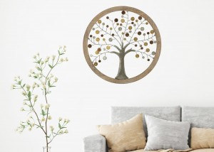 Decoratiune de perete Life Tree I Natural, Ø59 cm