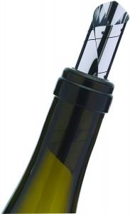 Antipicurator pentru turnat vin, 6 piese, Ø3xH6 cm, Enoteque Argintiu