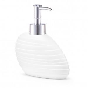 Dozator pentru sapun din polirasina, Abstrakt White, l15,2xA7,6xH15 cm