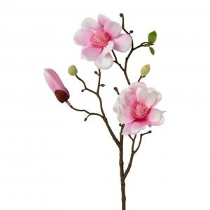 Fir floare artificiala, Magnolia Roz, H43 cm