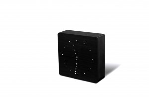 Ceas desteptator cu LED Analogue Click Clock Black