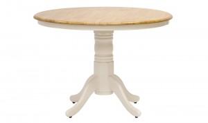 Masa din lemn de cauciuc Calais Ivory, Ø106xh74,2 cm