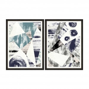Tablou 2 piese Framed Art Metallic Strokes