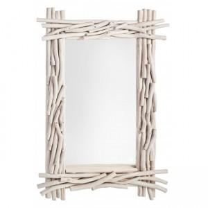 Oglinda decorativa din lemn de tec Sahel Ivoir, L90xl60 cm