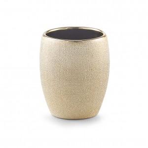 Pahar pentru periuta din ceramica, Glitter Gold, Ø 8,1xH9,8 cm