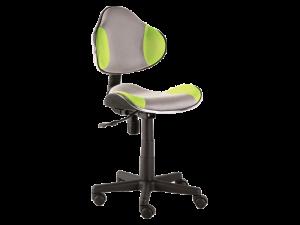 Scaun de birou pentru copii, tapitat cu stofa Q-G2 Green / Grey, l48xA41xH84-95 cm
