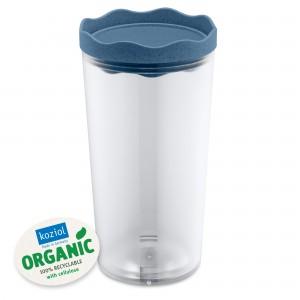 Recipient pentru depozitare cu capac, 100% Reciclabil, Prince L Organic Bleu, 1L