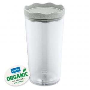 Recipient pentru depozitare cu capac, 100% Reciclabil, Prince L Organic Gri, 1L
