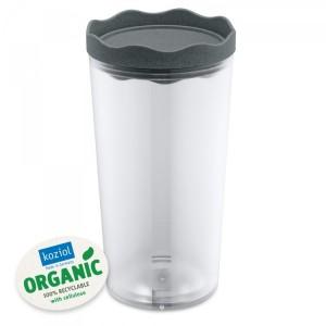 Recipient pentru depozitare cu capac, 100% Reciclabil, Prince L Organic Gri Inchis, 1L
