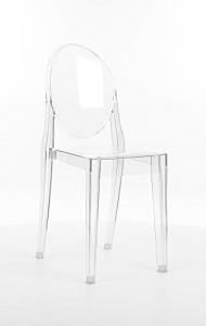 Scaun din plastic Martin Transparent, l38xA51xH90 cm