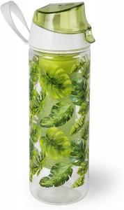 Sticla apa cu infuzor pentru fructe, 750 ml, Ø7xH24 cm, Foliage Verde