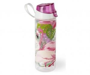 Sticla apa cu infuzor pentru fructe, 750 ml, Ø7xH24 cm, Tropical Roz