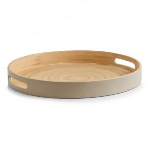 Tava pentru servire, Bamboo Taupe, Ø 35xH4 cm