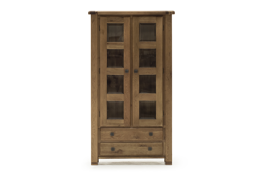 Dulap cu vitrina din lemn de stejar Danube