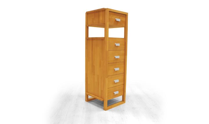 Dulap cu sertare din lemn masiv de fag Minimal 450 6s