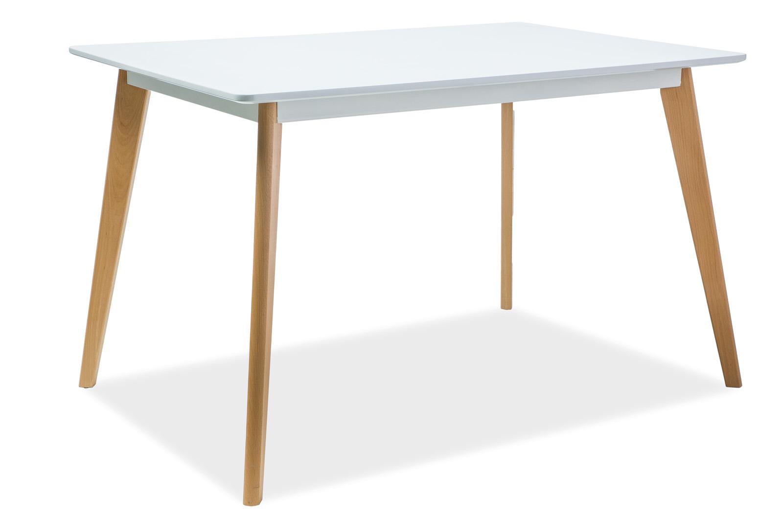 Masa din MDF si lemn de fag Declan I, L120xl80xh75 cm