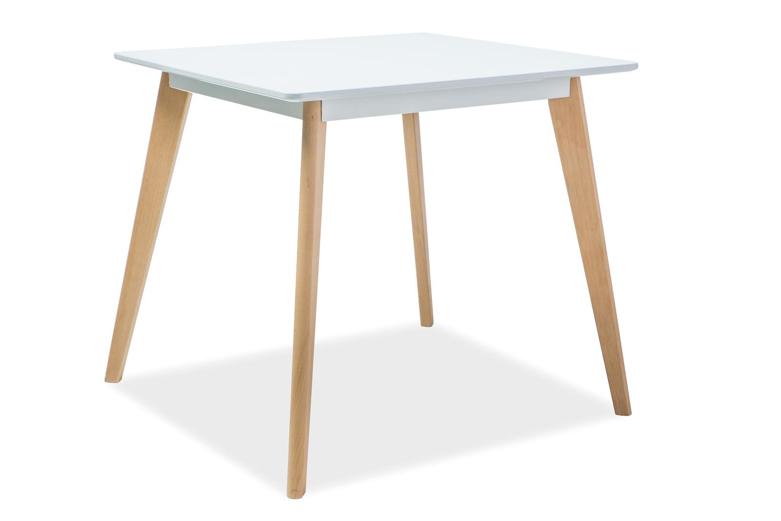 Masa din MDF si lemn de fag Declan II L80xl80xh75 cm