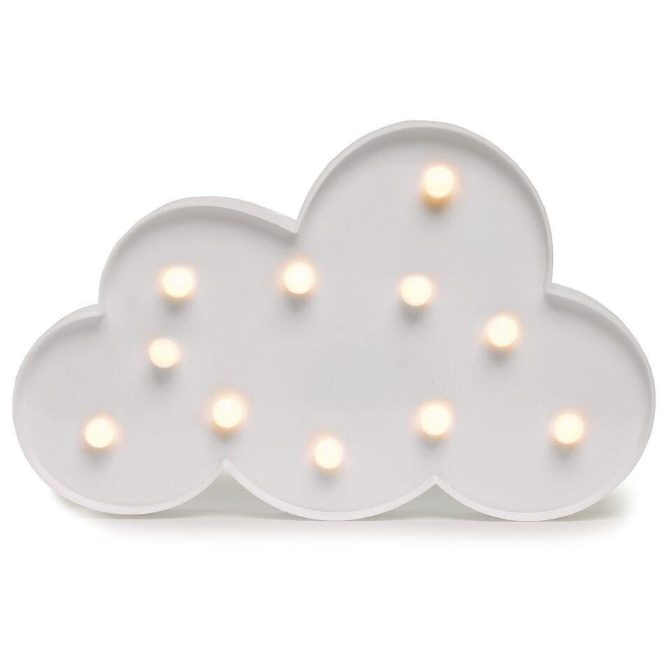 Decoratiune cu 11 LED-uri din plastic Cloudlet White l29xA27xH18 cm