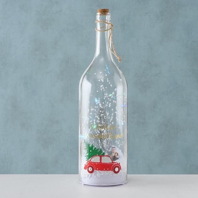 Decoratiune cu LED de Craciun Sheila Bottle Car Tree, Ø13xH46 cm imagine