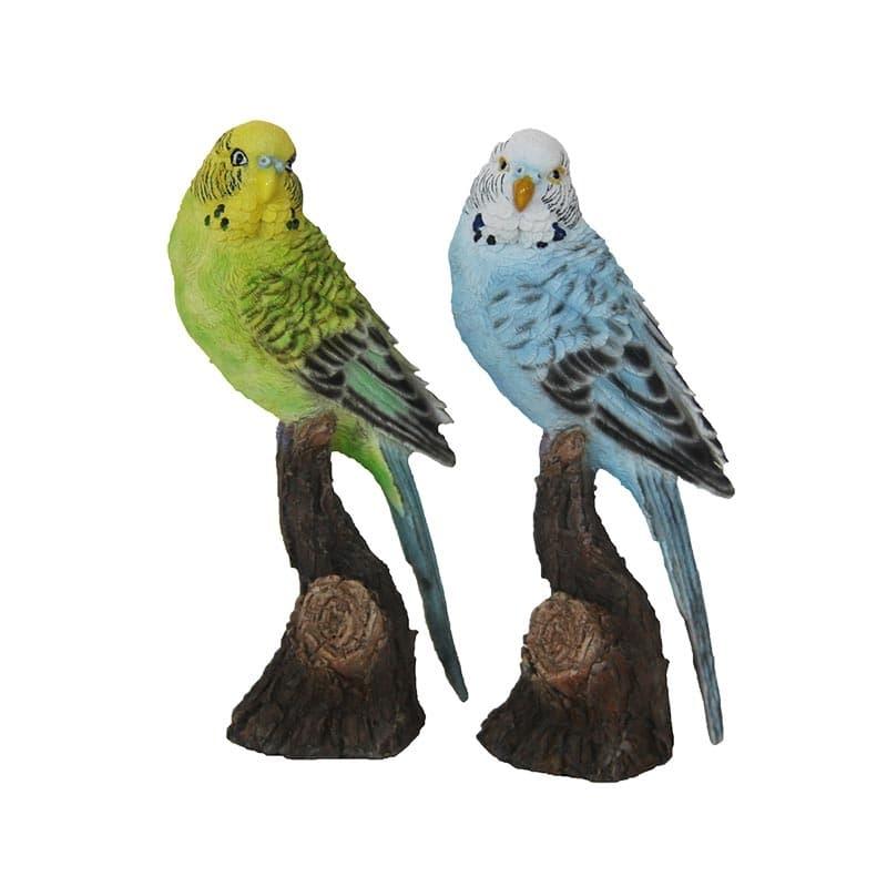 Decoratiune de gradina, din polirasina, Parakeet Multicolor, Modele Asortate, L8,1xl6,9xH18 cm somproduct.ro