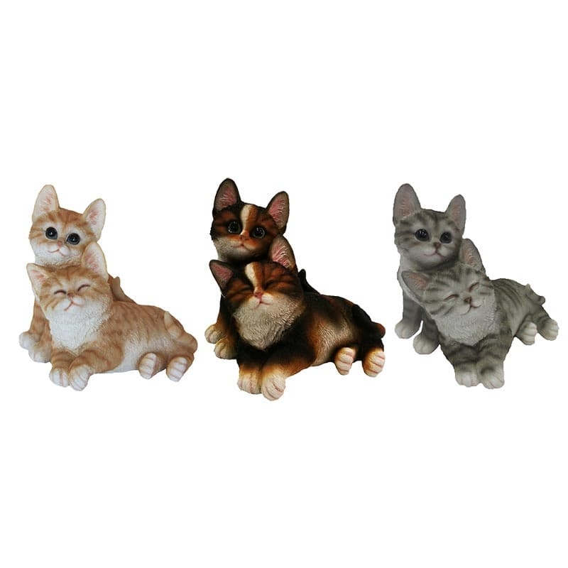 Decoratiune de gradina, din polirasina, Sweet Cats Multicolor, Modele Asortate, L18,6xl18,3xH18 cm somproduct.ro