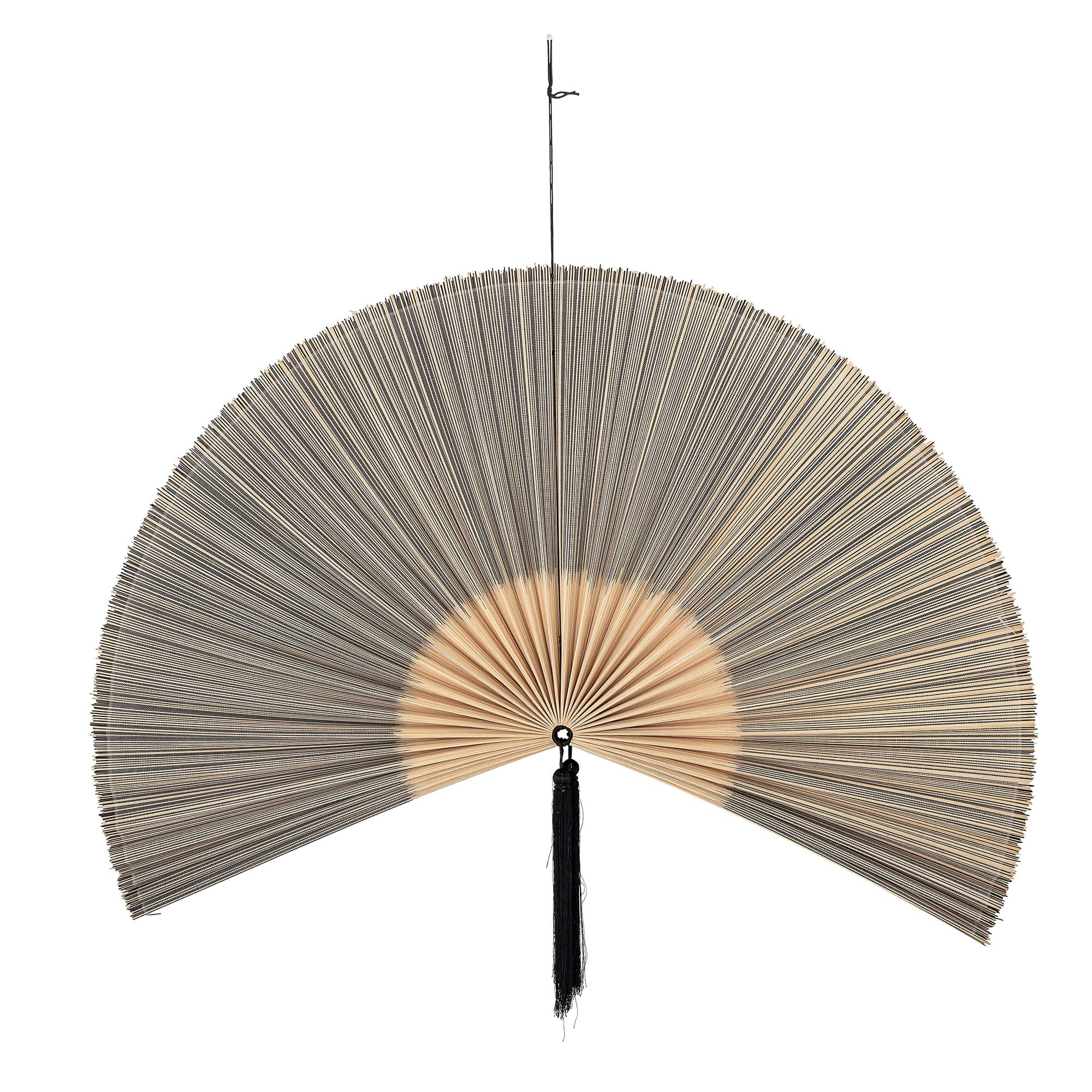Decoratiune de perete din bambus Jaime Negru, l145xH72 cm poza