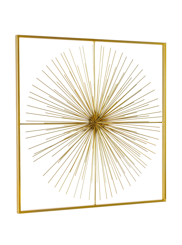 Decoratiune de perete din metal Auriel Medium Auriu, l70xA7xH70 cm poza