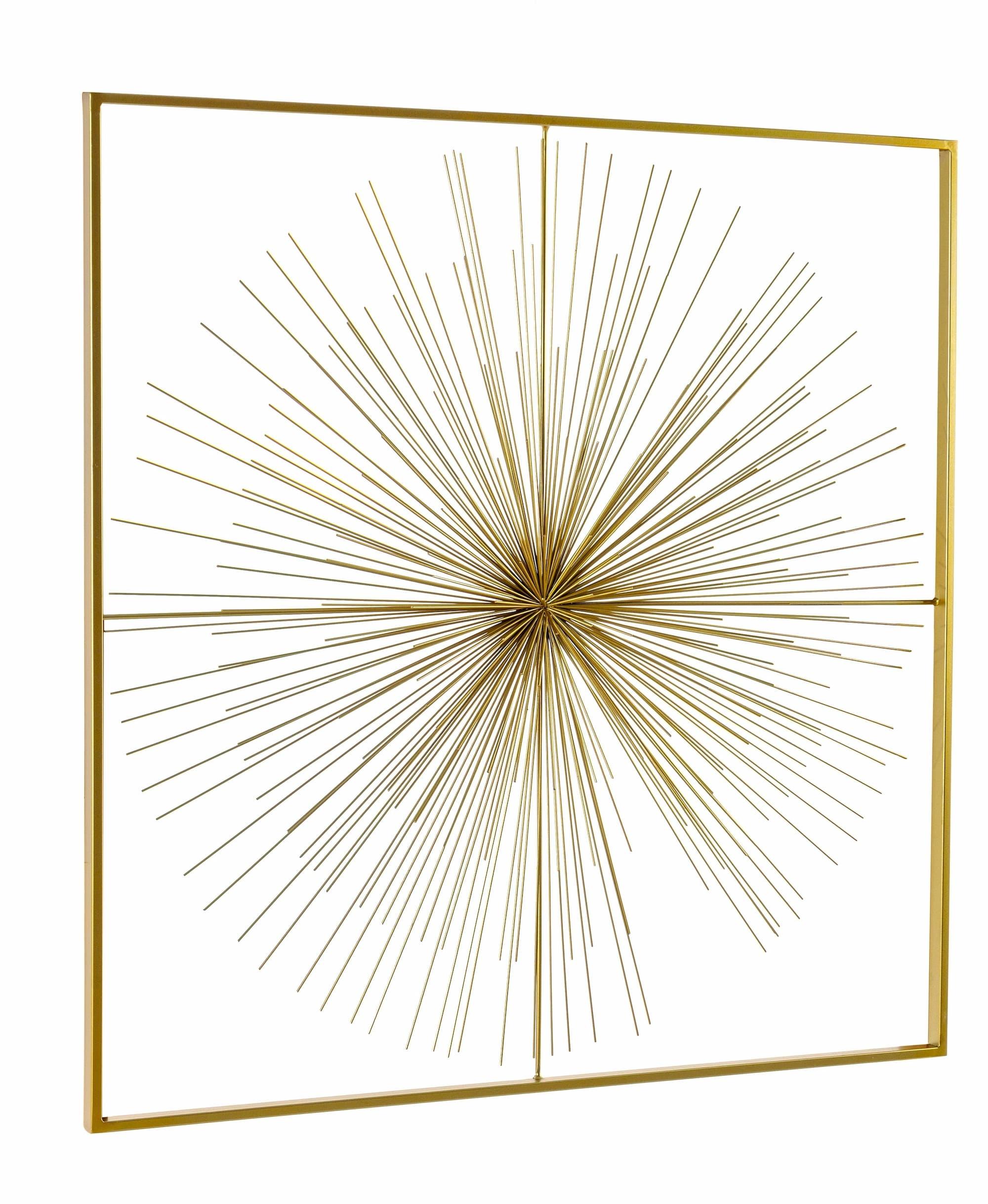Decoratiune de perete din metal Auriel Large Auriu, l90xA6,5xH90 cm poza
