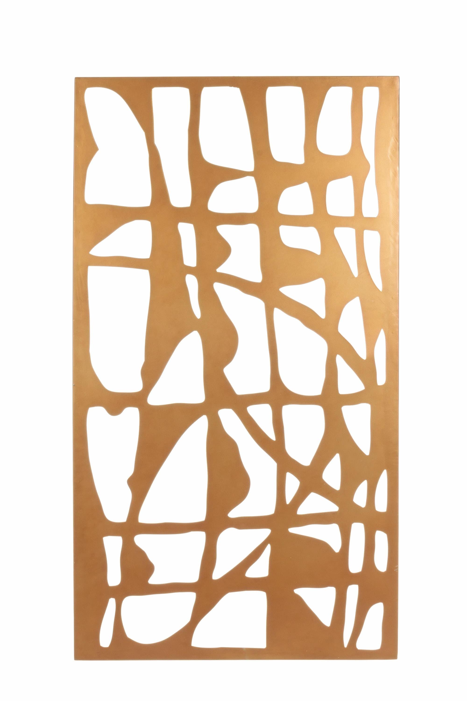 Decoratiune de perete din metal Zaira Rectangular Auriu, l60xA2xH110 cm poza
