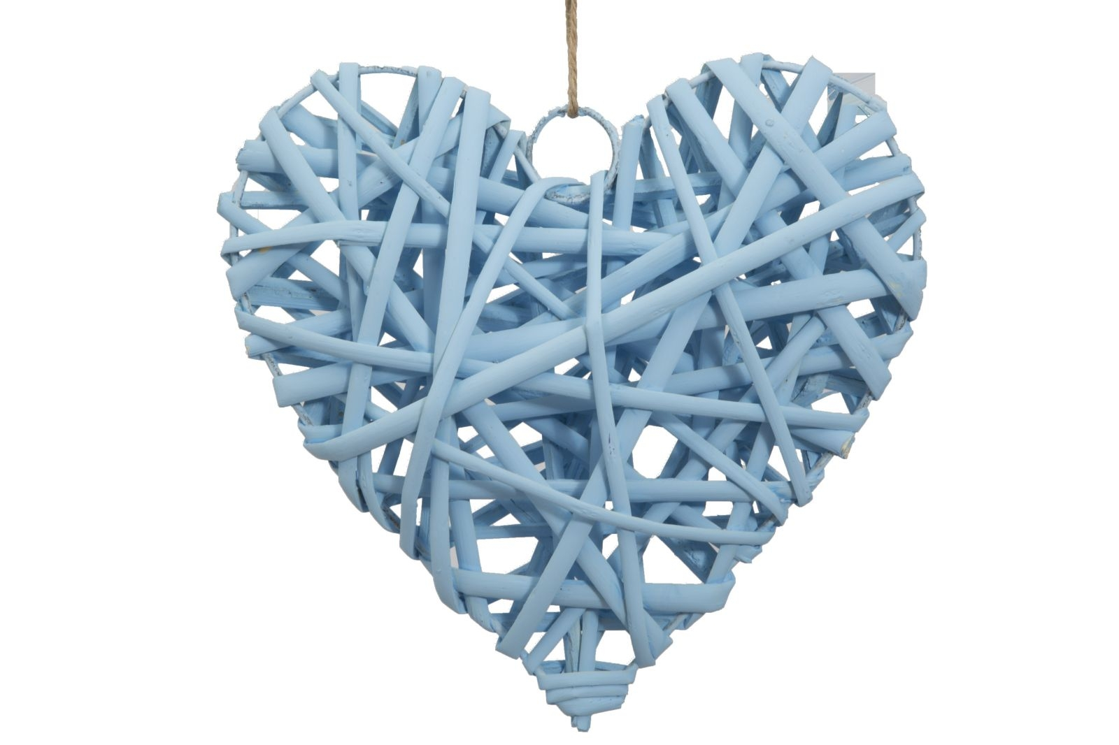 Decoratiune din lemn Heart Media Bleu, l15xA4xH15 cm( 478143)